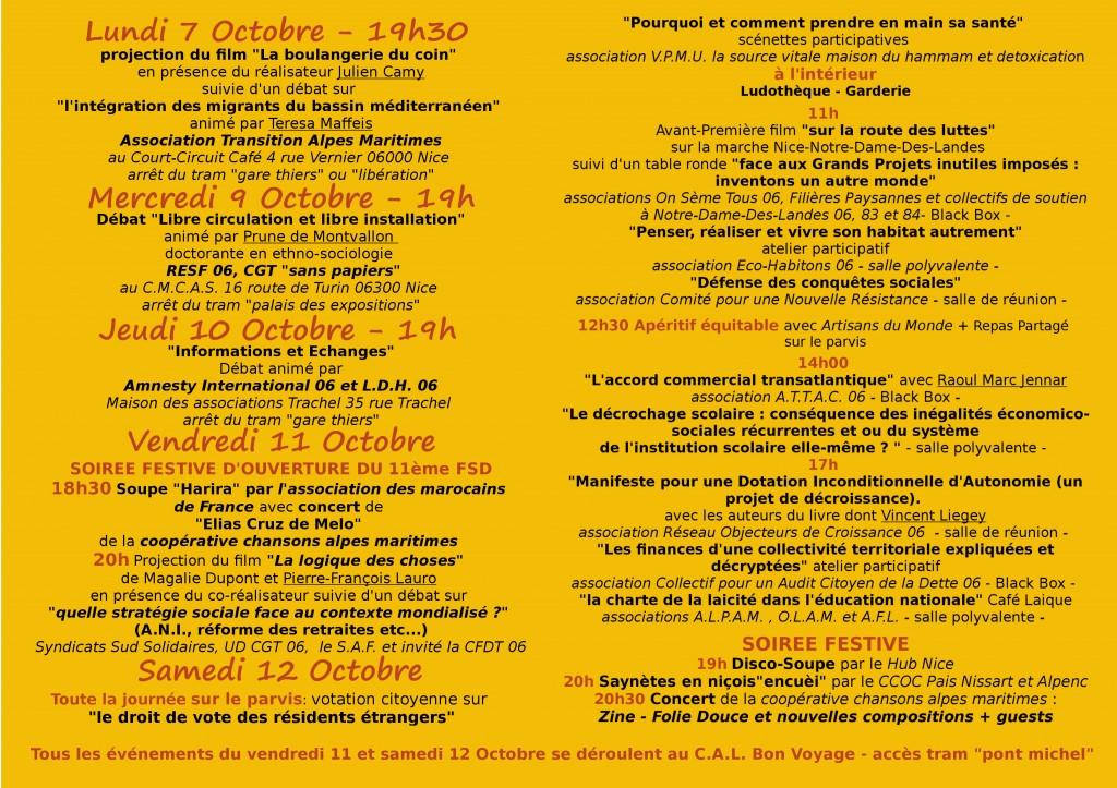 Programme Forum Social 2013
