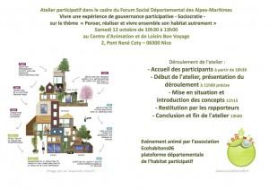 invitation atelier participatif du 12 octobre 2013 Forum Social Départemental