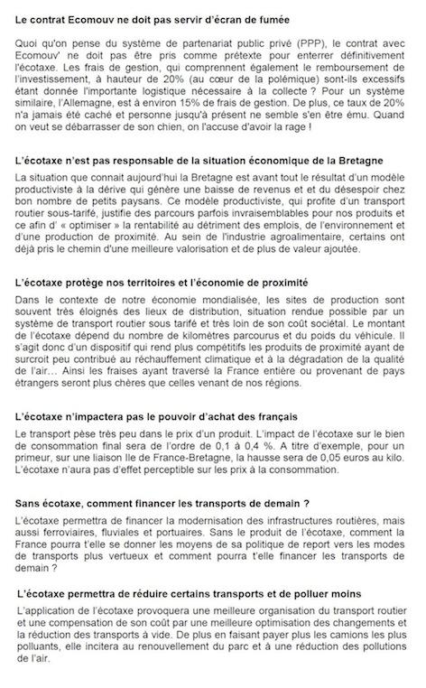 Taxe Poids Lourds FNE nov 2013