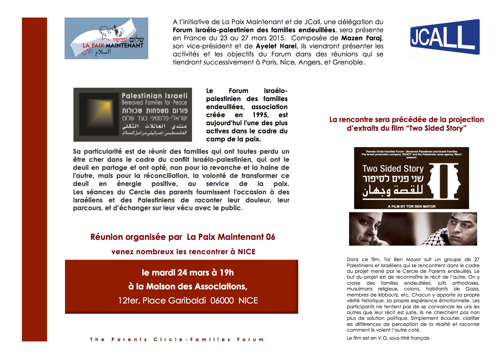 Flyer La Paix M PCFF Nice
