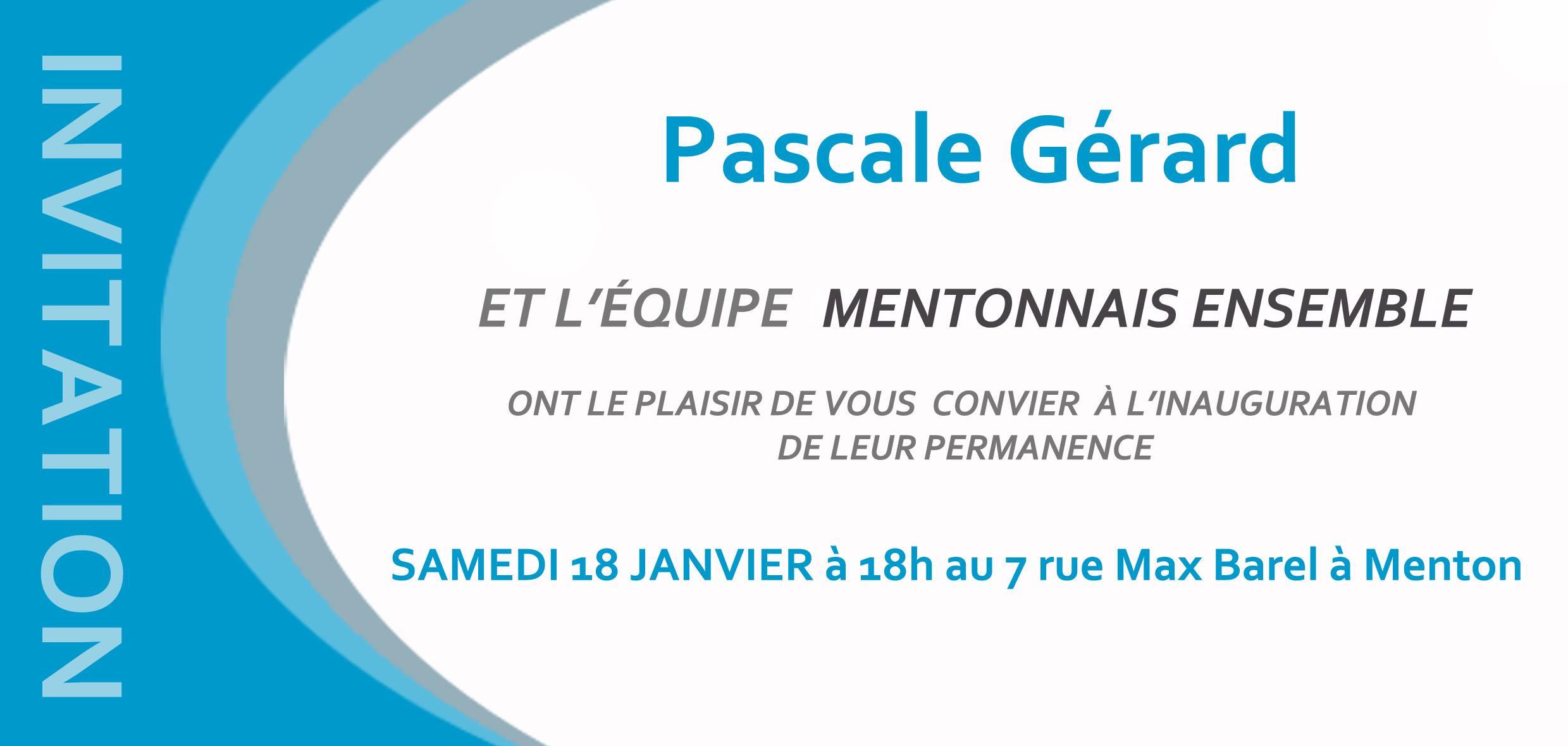Inauguration Menton janvier 14