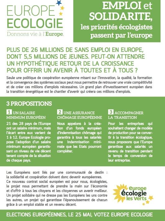 Tract Europe EELV 1er mai 2014