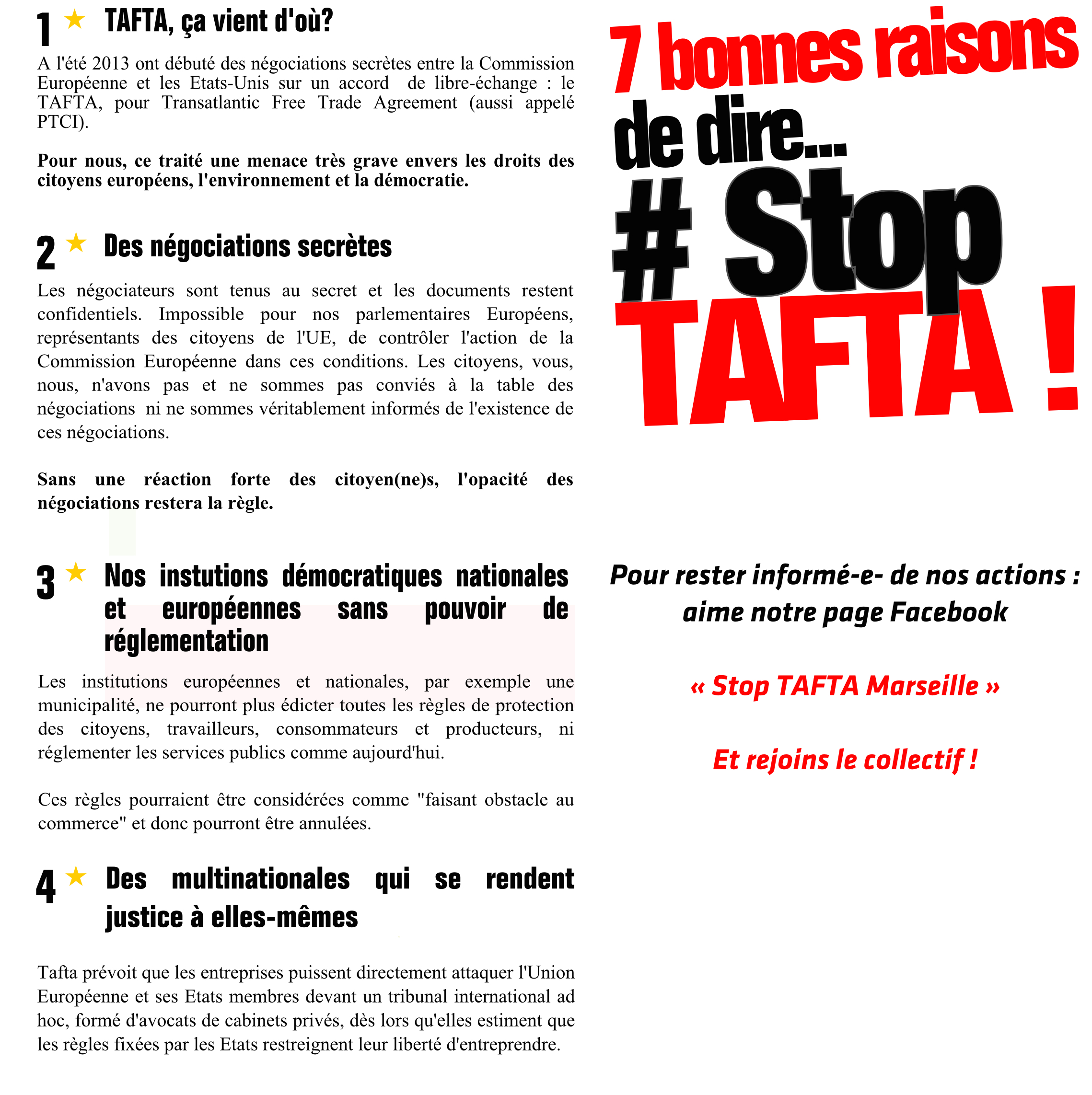 Tract STOP TAFTA P 2