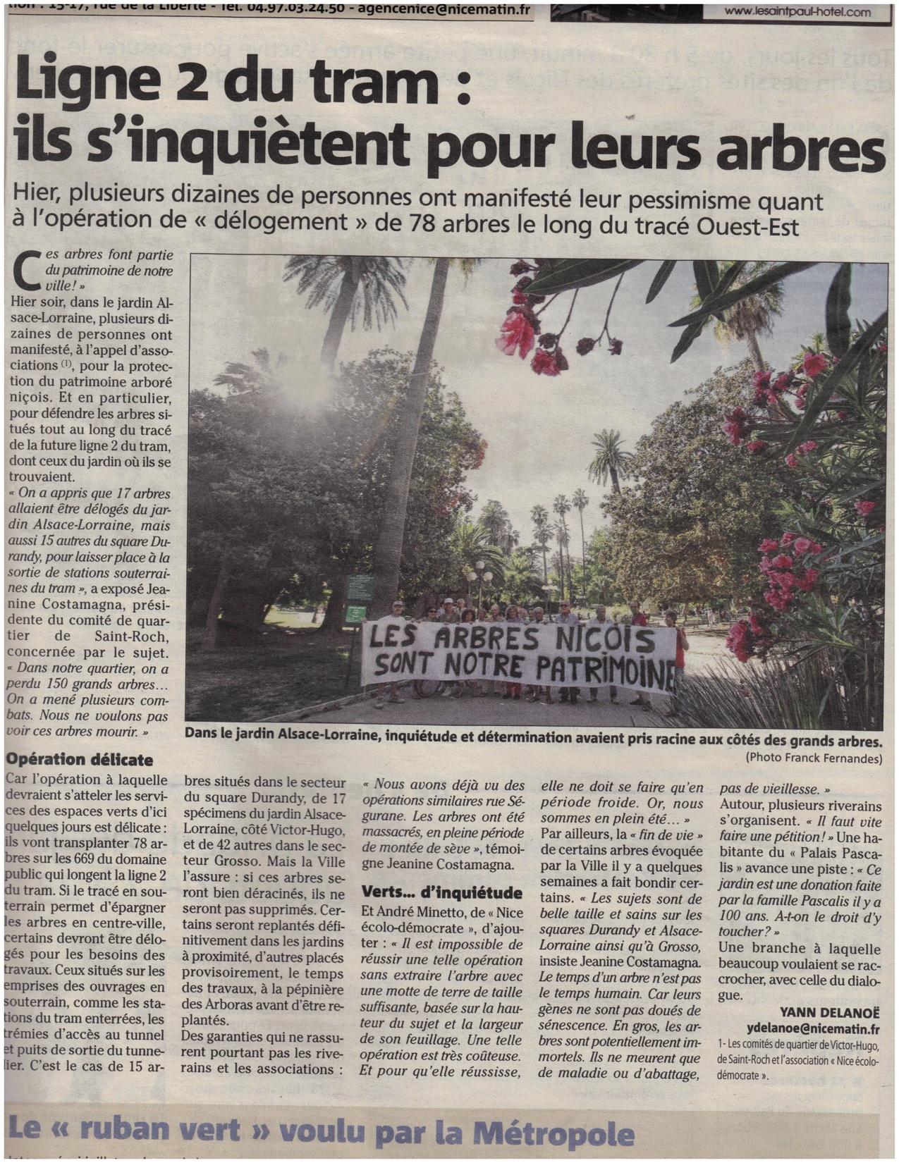 Manif arbres de Nice 14 aout 14